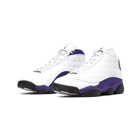 Air Jordan Men's 13 XIII Lakers Rivals White Black Court Purple