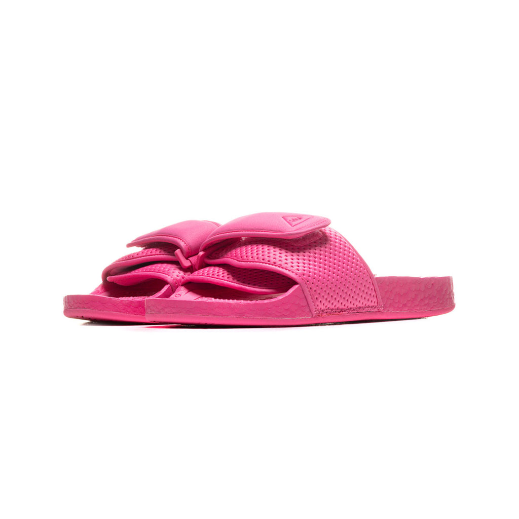 Adidas x Pharrell Williams Boost Slides Semi Solar Pink - KickzStore
