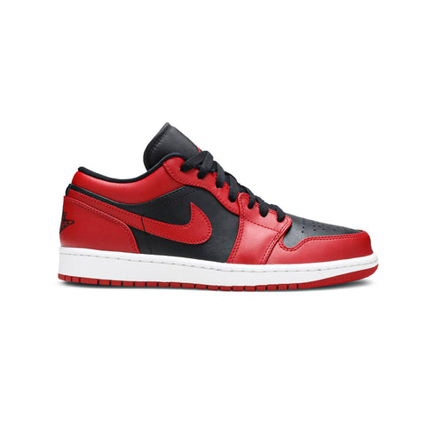 Air Jordan 1 Low Reverse Bred Black Red