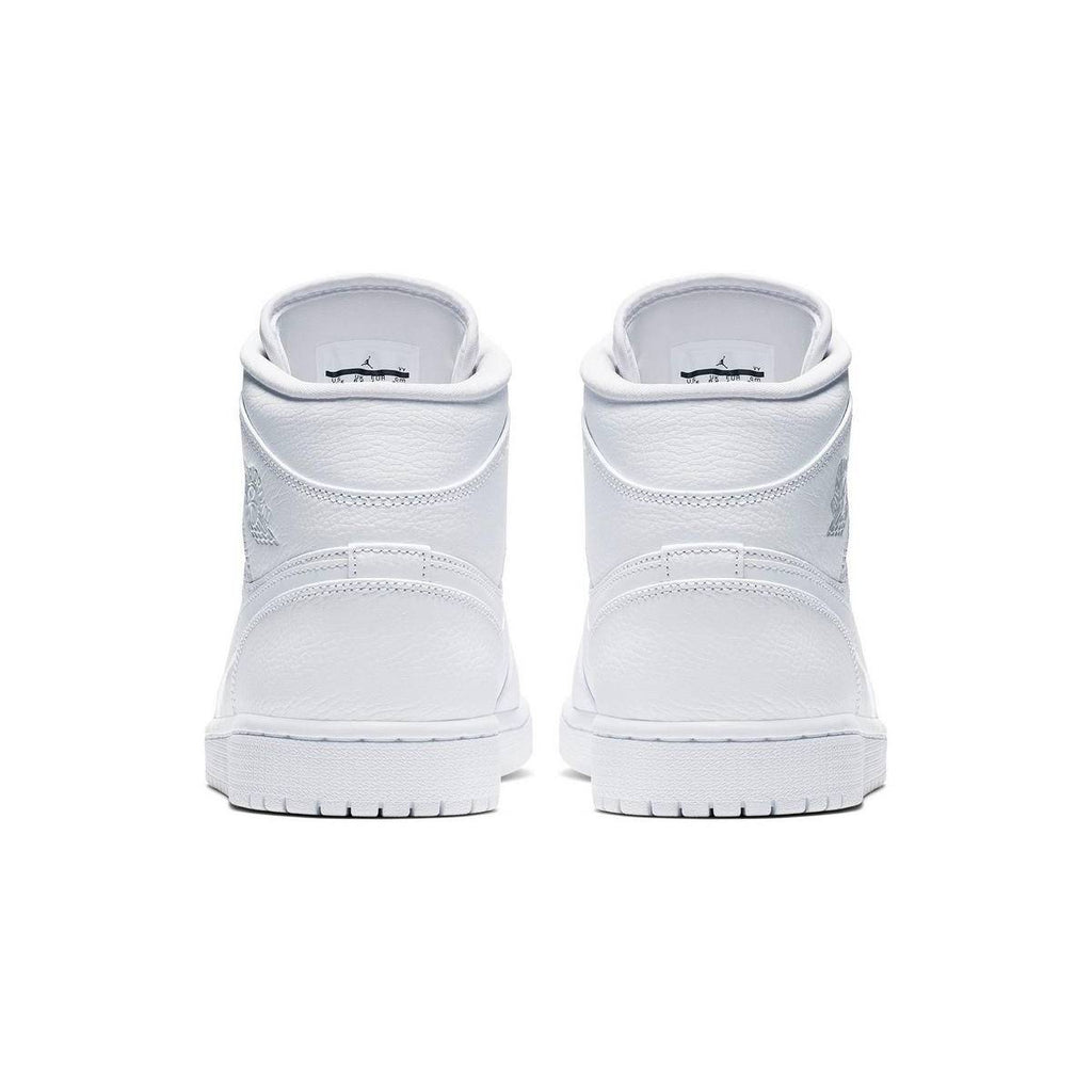 Air Jordan 1 I Mid Retro Triple White Basketball Shoes