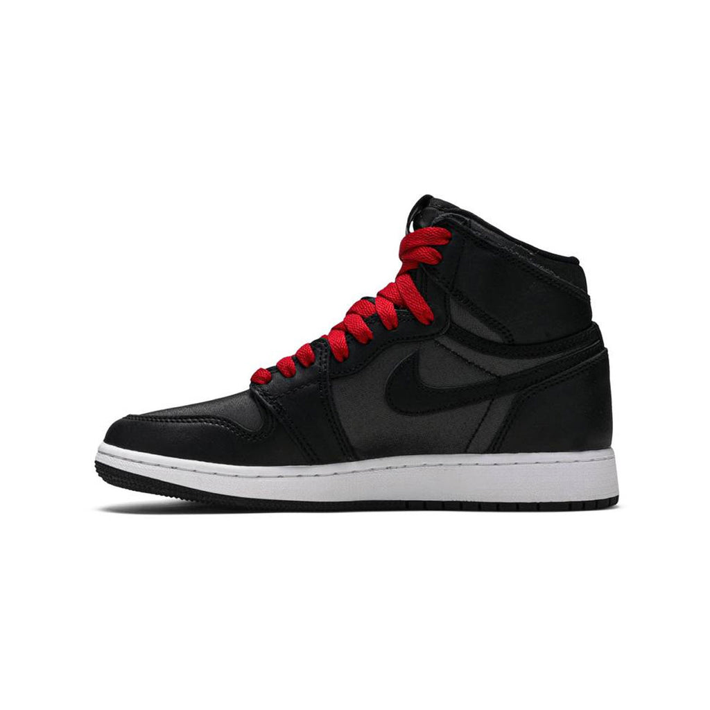 Air Jordan Big Kid's 1 I Retro GS High OG Black Satin