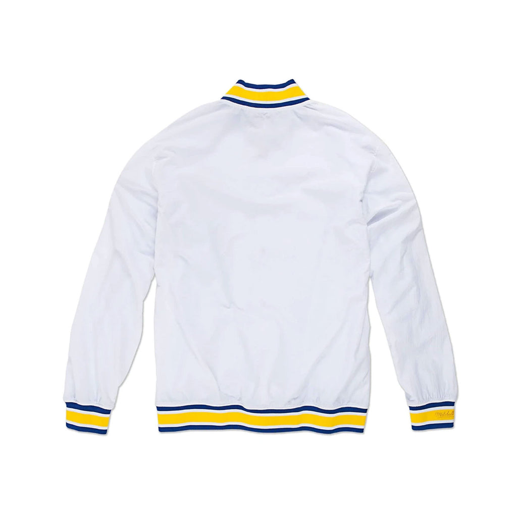 Mitchell Ness 1996-97 Golden State Warriors Warm Up Jacket White Yellow Blue