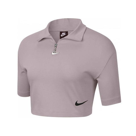 Nike Women's Short Sleeve Half Zip Mock Top
