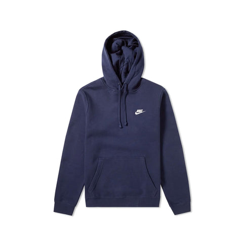 Nike Men's Sportswear Club Fleece Pullover Hoodie Midnight Navy White