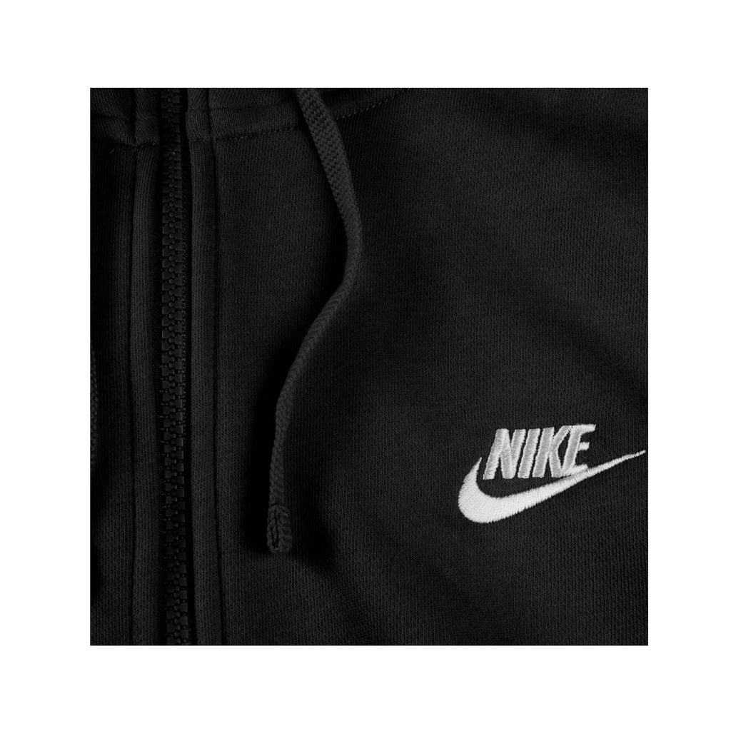 Nike Men's Sportswear Club Fleece Full Zip Hoodie Black White