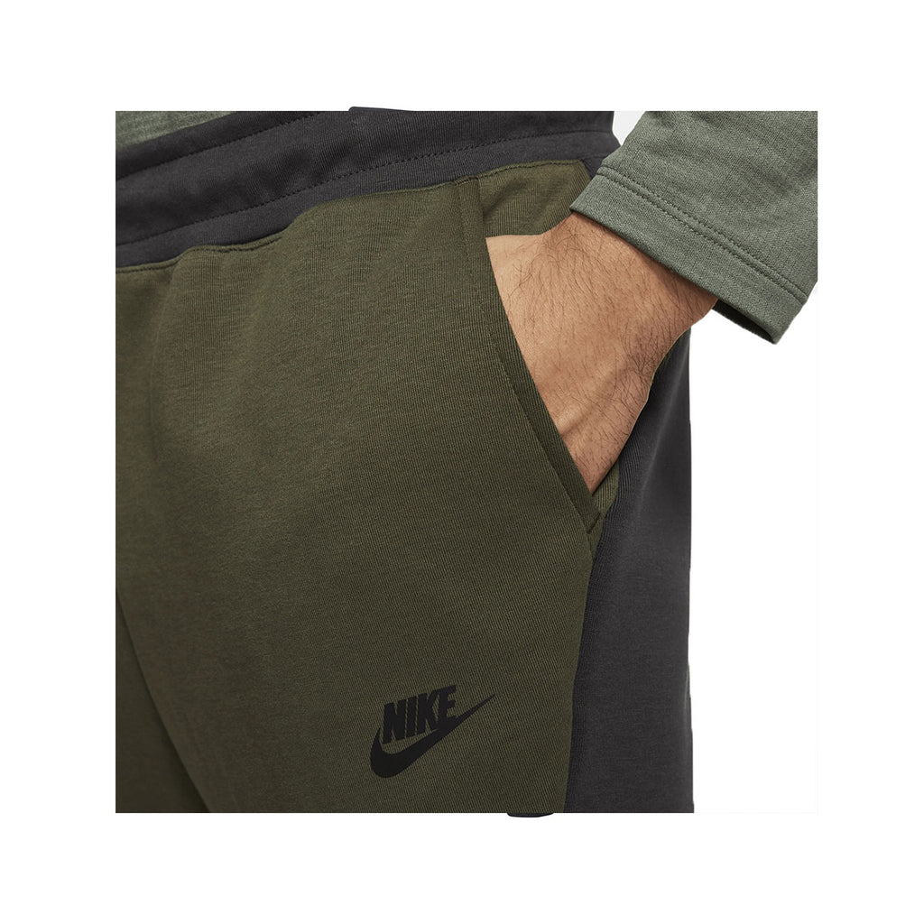 Nike Men's NSW Sportswear Tech Fleece Olive Green Gunsmoke Grey Jogger Pants - KickzStore