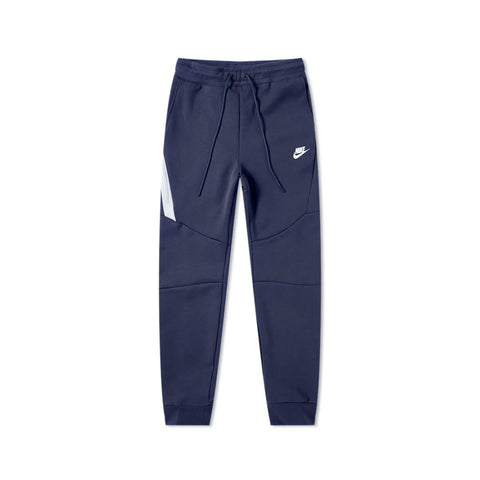 Nike Men's Sportswear Tech Fleece Joggers Obsidian White Pants 805162-010