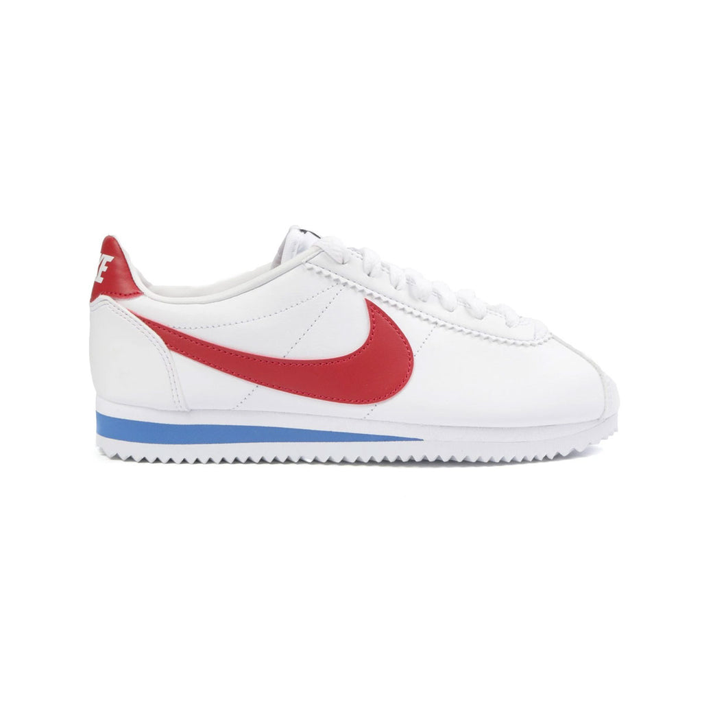 Nike Women's Classic Cortez Leather White Red Blue