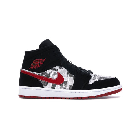 Air Jordan Men's 1 I Mid SE Newspaper Air Times