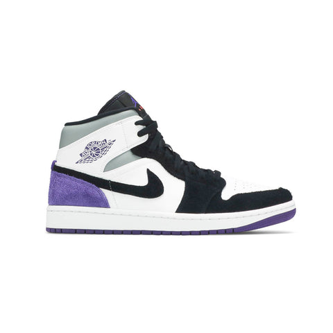 Air Jordan 1 Mid SE Court Purple Suede