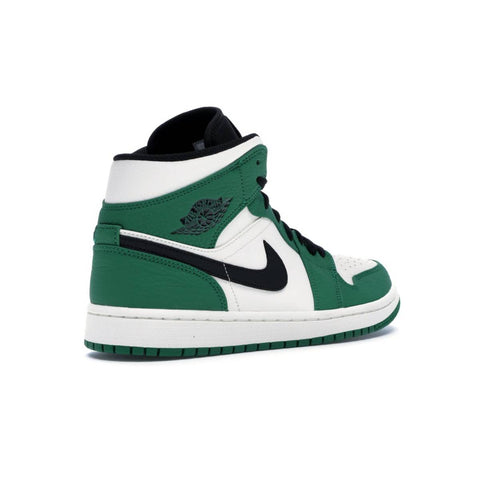 Air Jordan Men's 1 I Mid Retro Mid SE Pine Green Black Sail