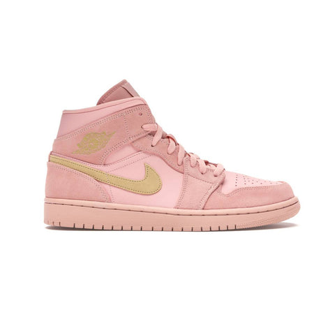 Air Jordan Men's 1 I Retro Mid Coral Gold Stardust
