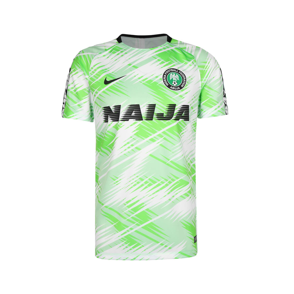 Nike Men's Football Nigeria Squad T-Shirt Volt White