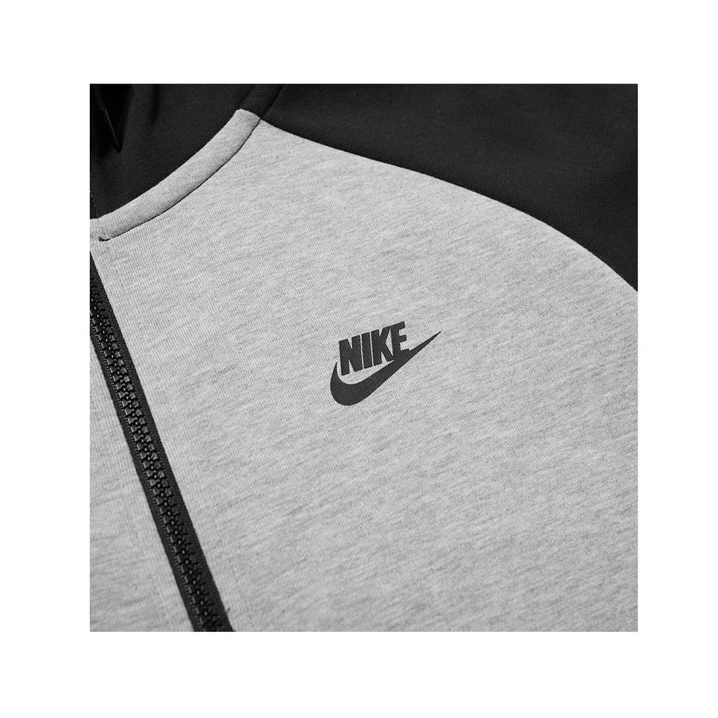 Nike Men's Sportswear Tech Fleece Zip Up Hoodie Gray Black - KickzStore