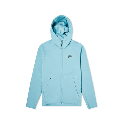 Nike Men's NSW Sportswear Tech Fleece Full Zip Hoodie Cerulean Blue Black
