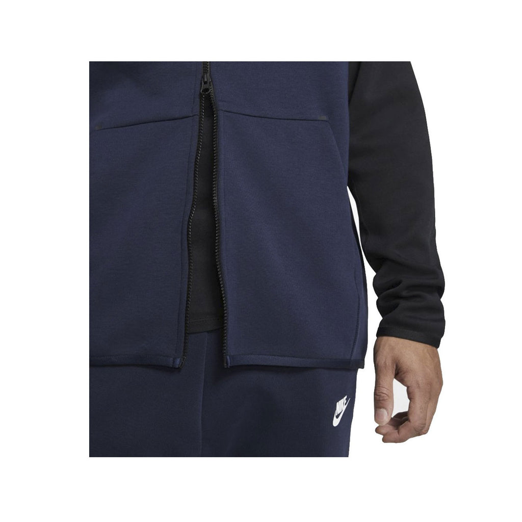 Nike Men's Sportswear Tech Fleece Zip Up Hoodie Navy Black