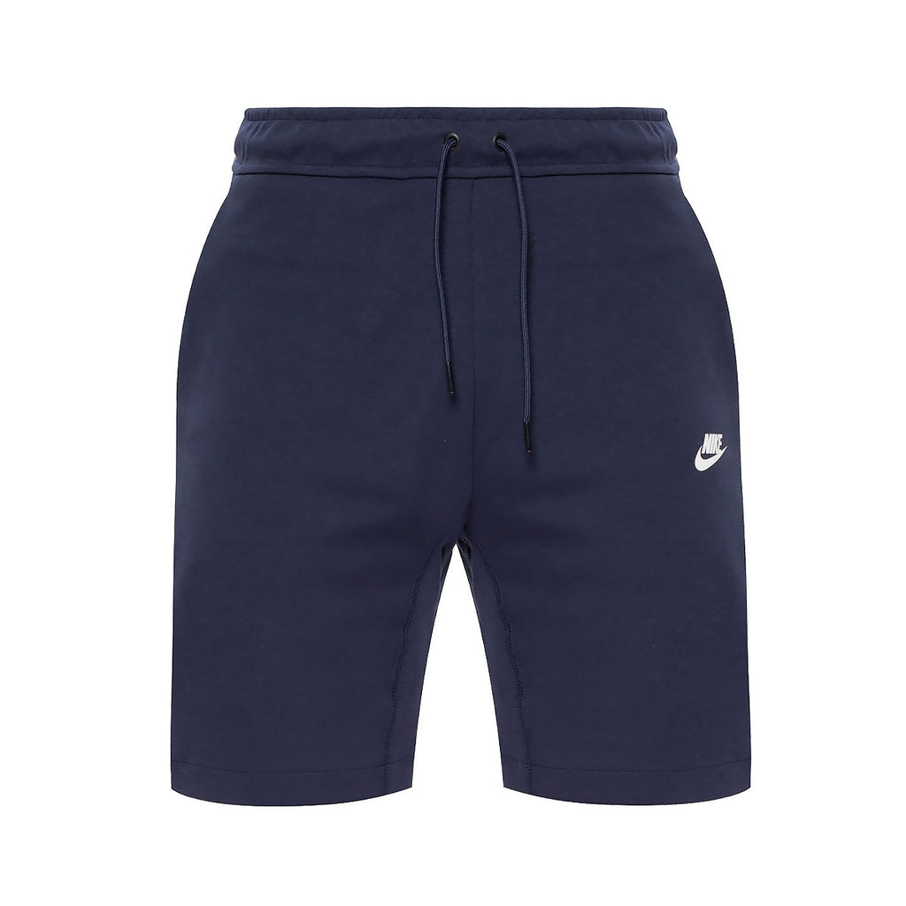 Nike Men's Sportswear Tech Fleece Shorts Navy Blue White - KickzStore
