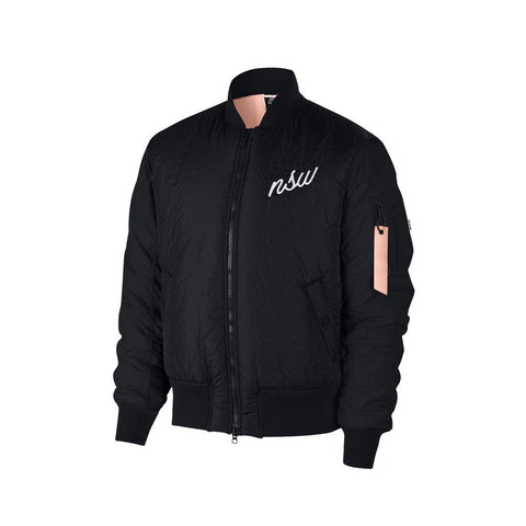 Nike Men's NSW Sportswear Synthetic Fill Bomber Flight Black Jacket
