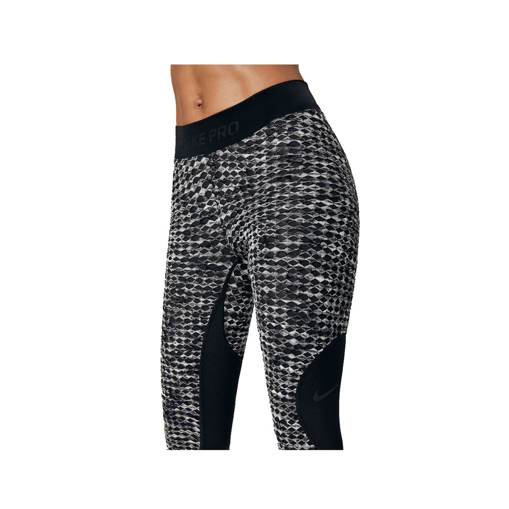 Nike Women's Pro Hyperwarm Tight Fit Black Grey Training Tights - KickzStore