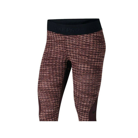 Nike Women's Pro Hyperwarm Tight Fit Burgundy Training Tights