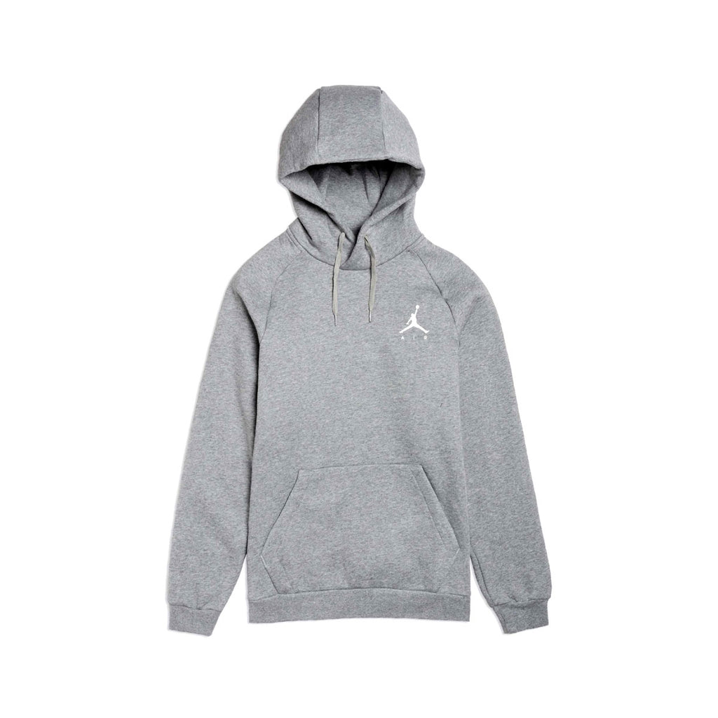 Air Jordan Men's Jumpman Fleece Pull Over Hoodie Heather Grey - KickzStore