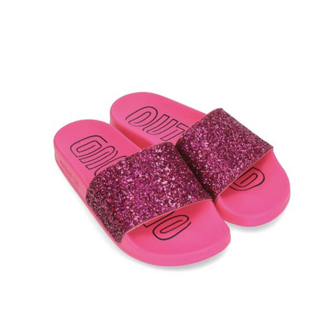 Adidas Women's Adilette Slides 'Out Loud Pack' Shock Pink - KickzStore