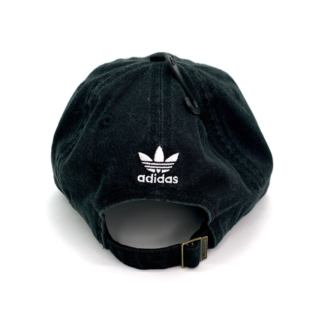 Adidas Women's Originals Relaxed Fit Strapback Black Cap - KickzStore