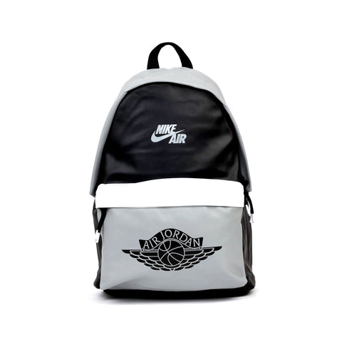 Nike Air Jordan Mashup Retro 1 Black And Grey Backpack