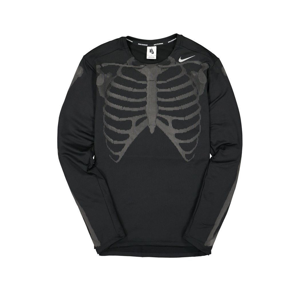 Nike NRG Skeleton Reflective 3M Black Dri-Fit Running Shirt - KickzStore