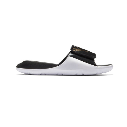 Air Jordan BIg Kid's Hydro 7 Wings Black White Gold Slides