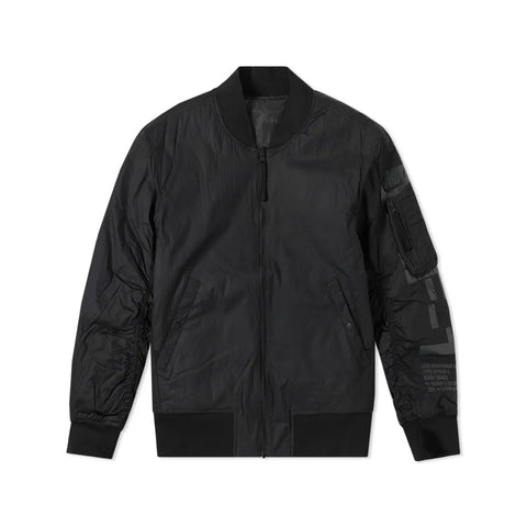 Nike Men's NSW Air Force 1 AF-1 Reversible Woven Bomber Black Jacket