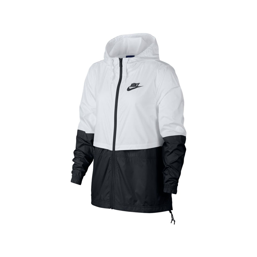 Nike Women's Sportswear Woven Lightweight Windbreaker Jacket Black White