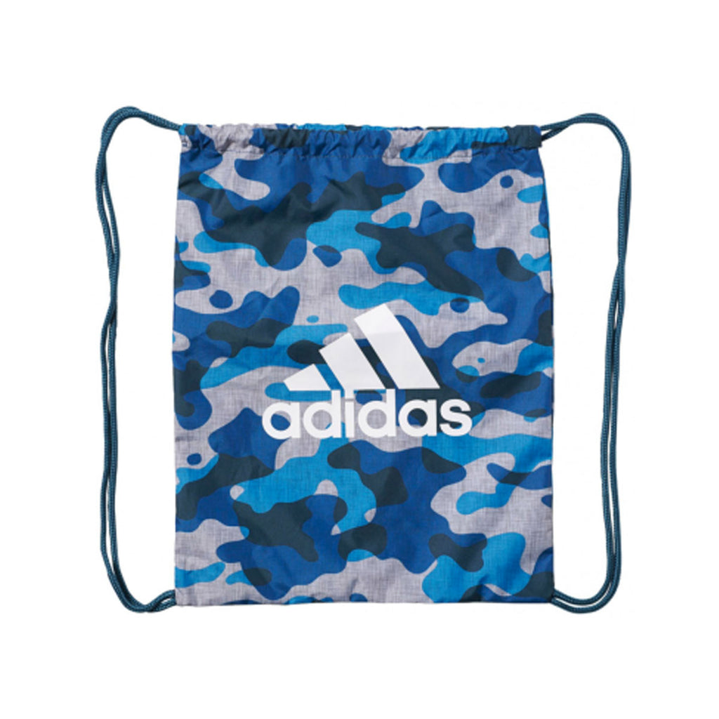 Adidas Originals Unisex White Mineral Blue Camouflage Training Gym Sack Backpack - KickzStore