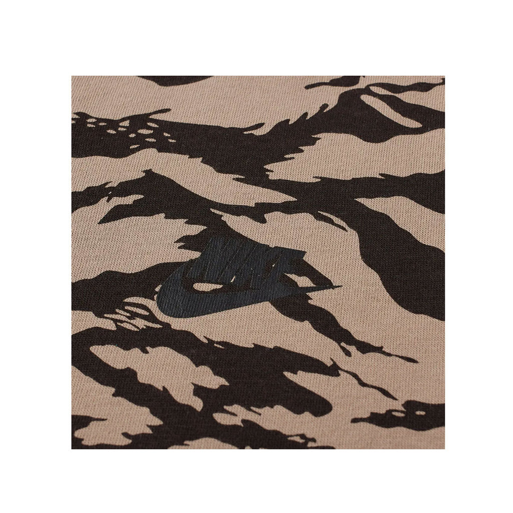 Nike Men's AOP Swoosh Tiger Stripe Camo Khaki Black T-Shirt