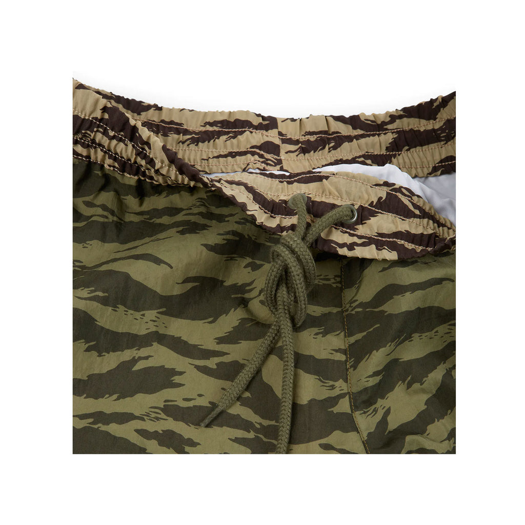 Nike Men's Swoosh Tiger Stripe Camo Olive Black Woven Pants - KickzStore