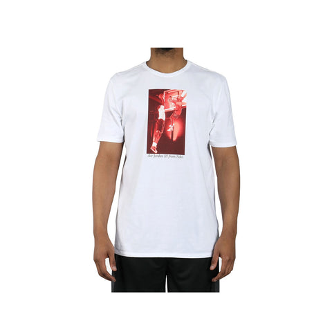 Air Jordan Men's 3 III Spike Lee Photo White T-Shirt - KickzStore