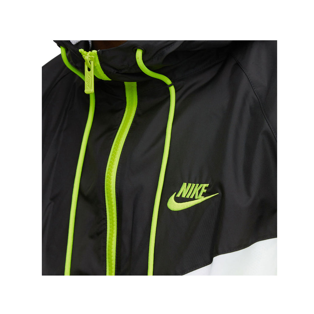 Nike Men's Color Block Hooded Jacket Black White Green - KickzStore