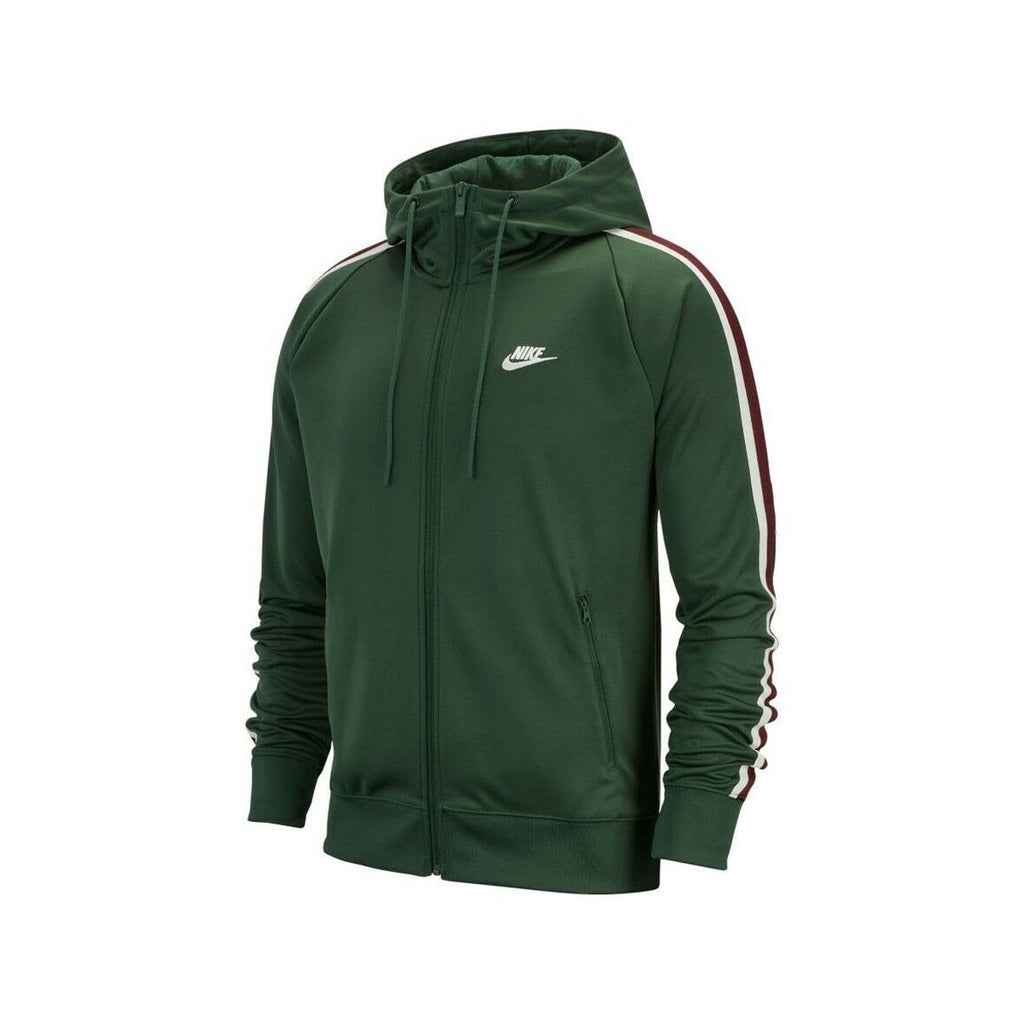 Nike Men's NSW Sportswear Tribute Soccer Full Zip Track Jacket Green - KickzStore