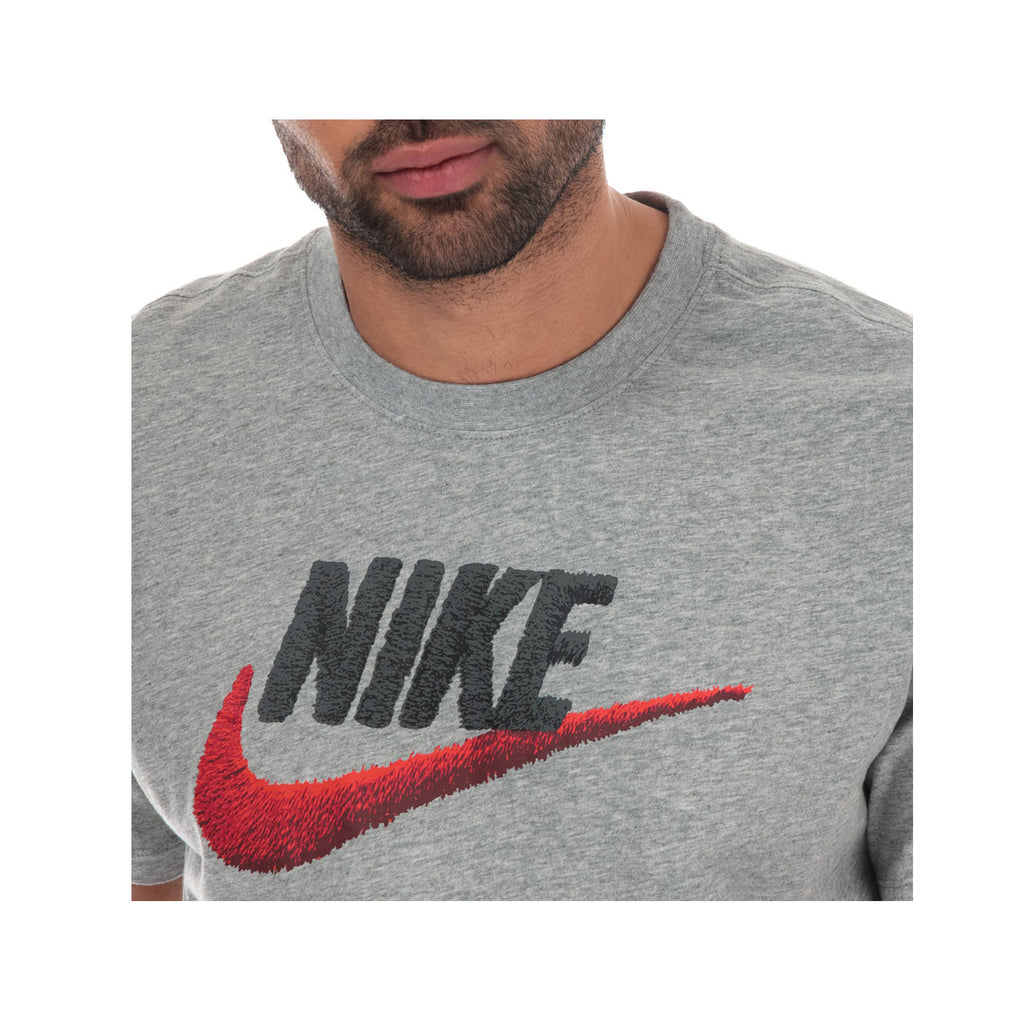 Nike Men's NSW Sportswear T-Shirt Gray Red - KickzStore