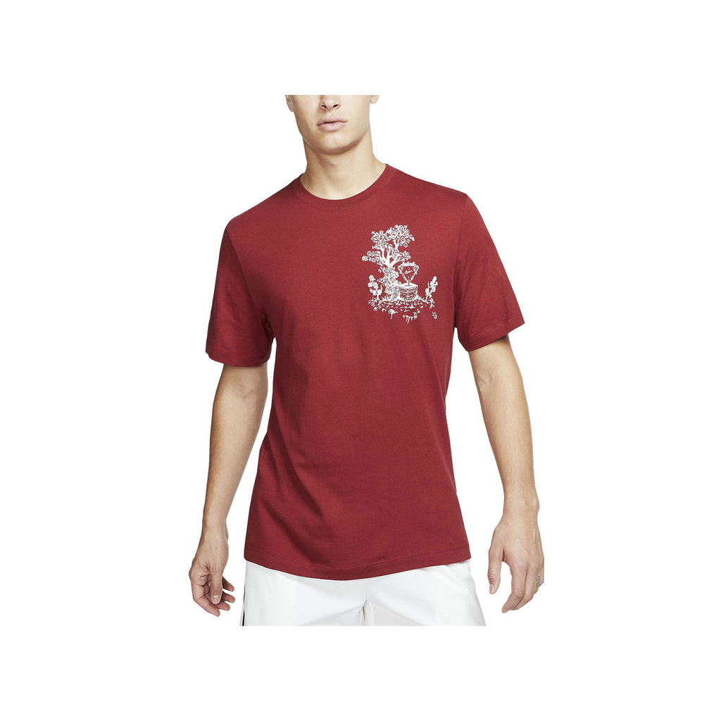 Nike Men's Court Seasonal Tennis Team Crimson S/S T-Shirt