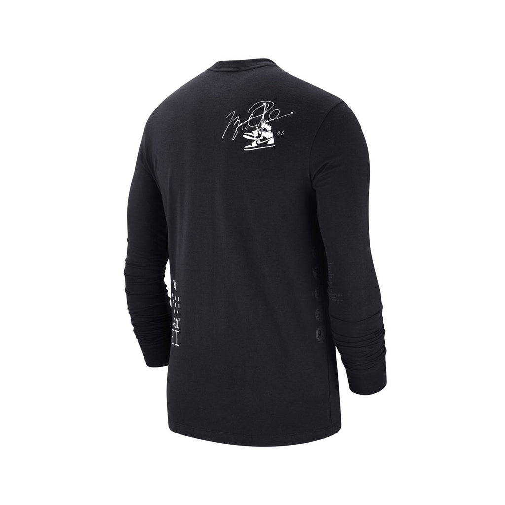 Air Jordan Men's Long 6 Long Sleeve T-Shirt Black White