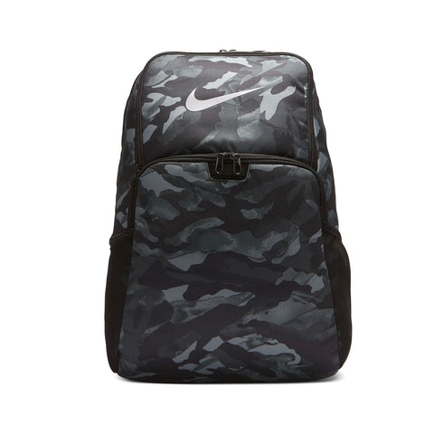 Nike Brasilia Printed Training Backpack Black Grey - KickzStore