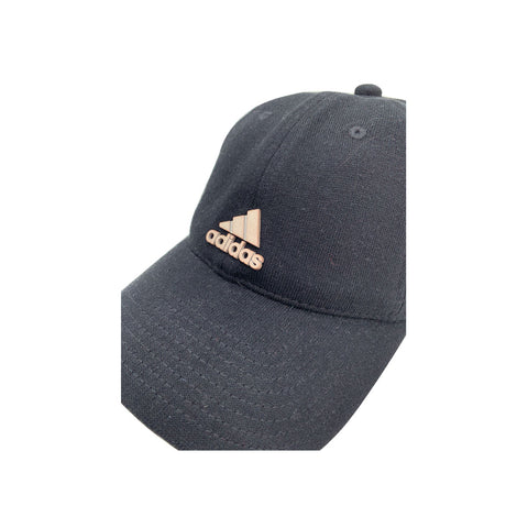 Adidas Women's Black With Brass Three Stripe Life Adjustable Cap - KickzStore