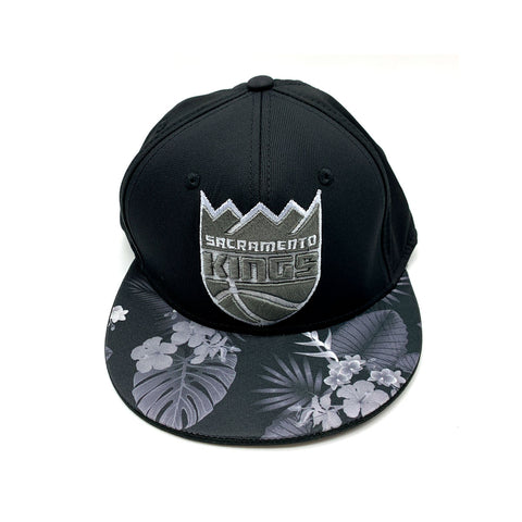 Adidas Sacramento Kings Floral Brim Fitted Hat Black