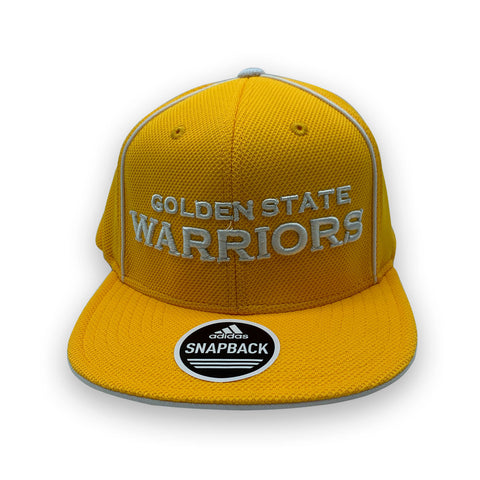 Adidas Golden State Warriors Flat Brim Snapback Yellow