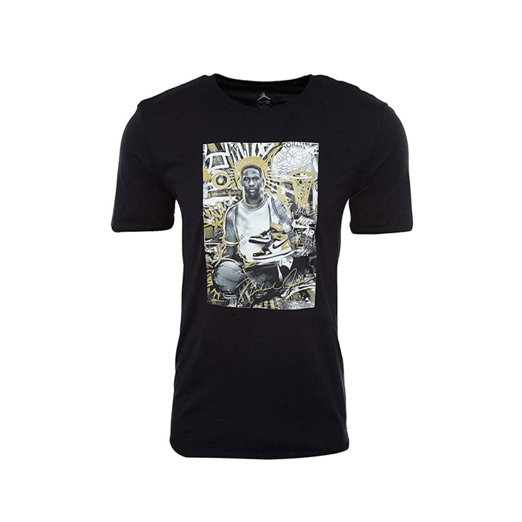 Air Jordan Men's Retro AJ 1 Black Gold T-Shirt