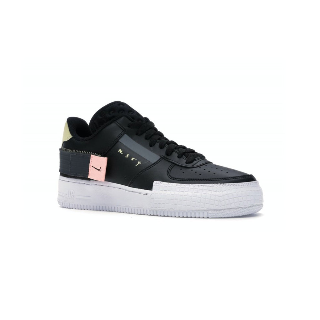 Nike Kid's Air Force 1 Type 'Black Zinnia' GS Black White