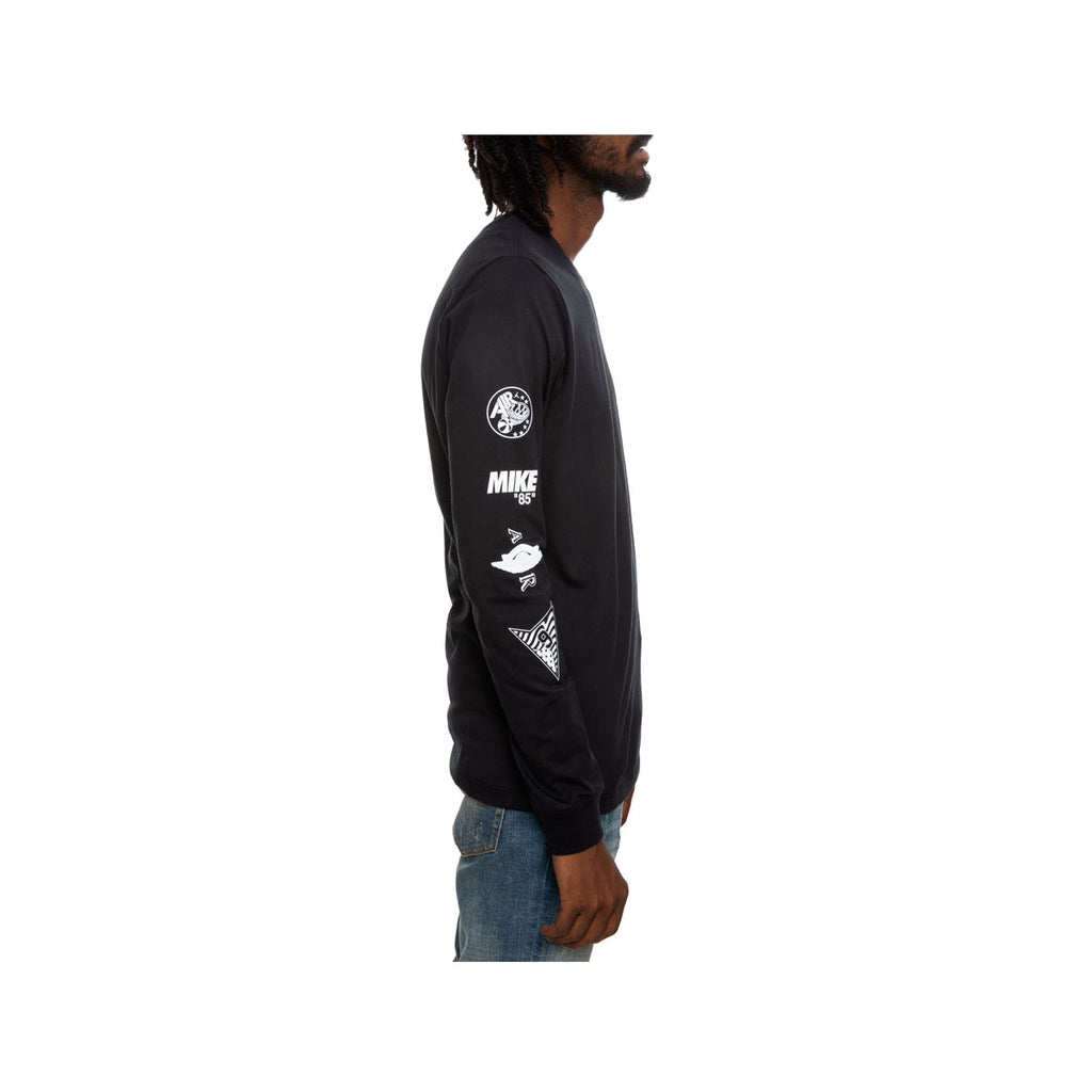 Air Jordan Men's The Man Long Sleeve T-Shirt Black White