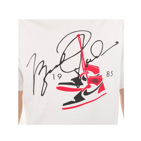 Air Jordan Men's Classic AJ 85 Jordan 1 White S/S T-Shirt