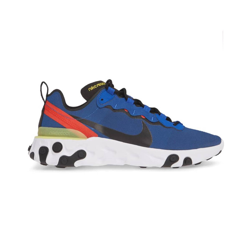 Nike Men's React Element 55 Game Royal Black White Running Shoes - KickzStore